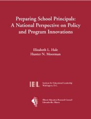 Preparing School Principals: A National Perspective on Policy and ...