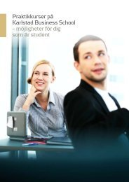 Praktikbroschyr studenter - Karlstads universitet