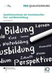 Qualitätsmerkmale der interkulturellen Fort- und Weiterbildung