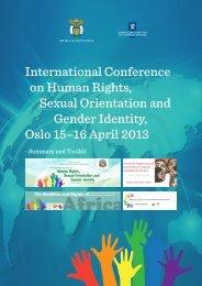 SOGI Conference Summary and Toolkit - US Mission Geneva