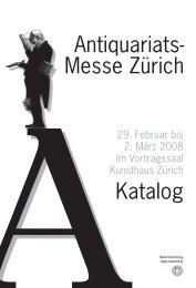 Antiquariats- Messe Zürich Katalog Foire du re Ancien à Zurich ...