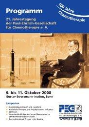 Programm - Paul Ehrlich Gesellschaft