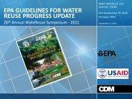 epa guidelines for water reuse progress update - WateReuse ...