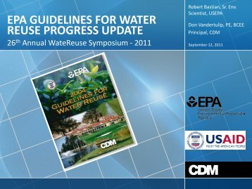 epa guidelines for water reuse progress update - WateReuse ...