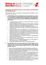 Umsetzung der UN-Konvention für die Rechte von Menschen ... - GEW