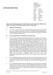 Thesen zum Übereinkommen der Vereinten Nationen vom 13 ...