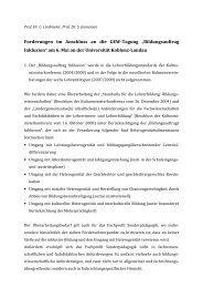 """Forderungen im nschluss an die GEW-Tagung """"Bildungsauftrag ..."""
