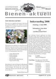 Bienen-aktuell Nr. 52 - Liechtensteiner Imkerverein