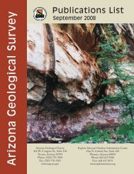 Publications List -- 2008 - The Arizona Geological Survey