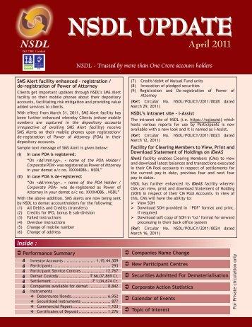 April 2011 - NSDL