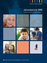 Jahresbericht 2009 - Institut für Sozialarbeit und Sozialpädagogik eV