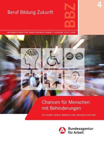 Chancen für Menschen mit Behinderungen - Wege ins Studium