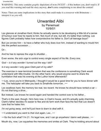 Unwanted Alibi - Squidge.org