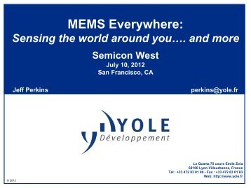 MEMS Everywhere - SEMICON West