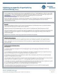 Bilag 2 Vejledning om Opgørelse af egenkapital og revisorerklæring
