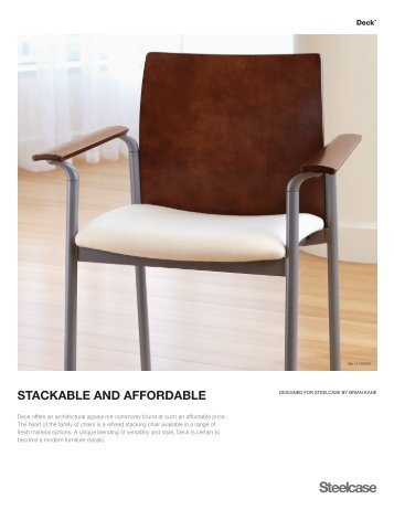 STACKABLE AND AFFORDABLE - Steelcase