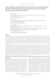 2004 sumatra-andaman tsunami surveys in the comoro ... - AfricaArray