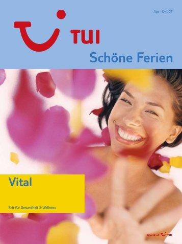 TUI - Vital - Sommer 2007 - tui.com - Onlinekatalog