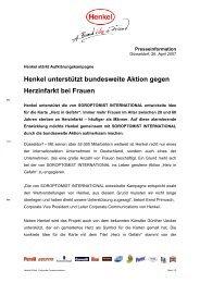 Henkel unterstützt bundesweite Aktion gegen Herzinfarkt ... - Loctite
