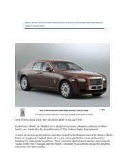 One Thousand and One - Rolls-Royce Owner's Club Saint ...