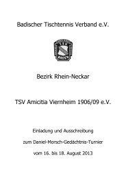 Ausschreibung Daniel-Morsch-Gedächtnis-Turnier-V7 - Tischtennis