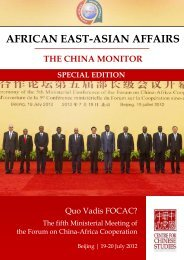 Download this Special Edition of the Africa East-Asian Affairs