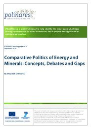 Comparative Politics of Energy and Minerals ... - POLINARES