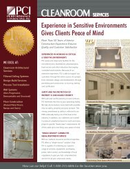CLEANROOM SERVICES - Performance Contracting Inc.