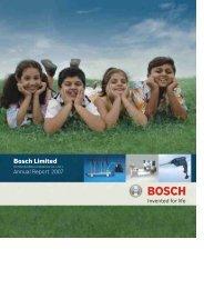 Annual Report 2007 (Full) - Bosch - in India