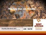West African Minerals Corporation One2One Investor Presentation
