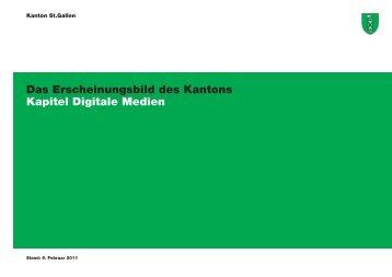 Das Erscheinungsbild des Kantons Kapitel Digitale Medien