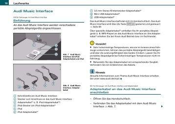 multimedia interface audi bedienungsanleitung  - media-cartec