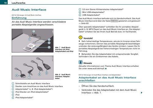 bedienungsanleitung a4, a5, a6, a8, q5, q7 - pdf - audi