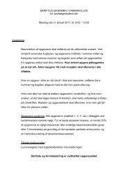 SKRIFTLIG EKSAMEN I FARMAKOLOGI for - Aarhus Universitet