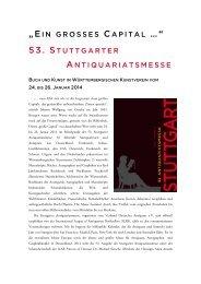 Pressemappe zum Download - Stuttgarter Antiquariatsmesse