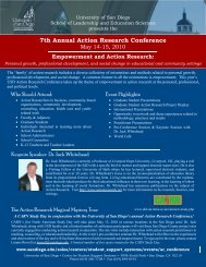 7th Annual Action Research Conference - Education & Social ...
