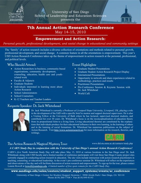 7th Annual Action Research Conference - Education & Social