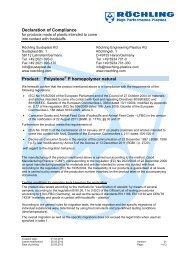 Polystone P homopolymer natural EC Compliance - Meta-Plast