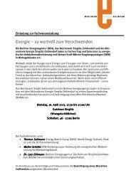 Einladung zur Veranstaltung zum Download - Berliner Energieagentur