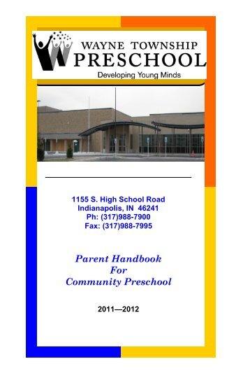 Parent Handbook For Community Preschool - MSD of Wayne ...
