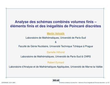 Analyse des schémas combinés volumes finis – éléments finis ... - Inria