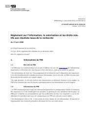 Règlement sur l'information, la valorisation et les droits relatifs aux ...