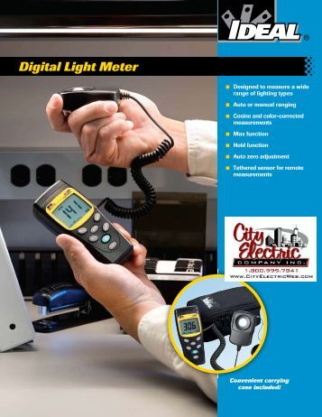 IDEAL Digital Light Meter Brochure - City Electric Company Inc.