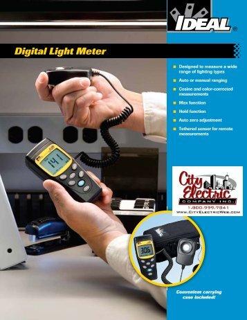 IDEAL Digital Light Meter Brochure - City Electric Company Inc.