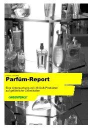 Eaux de Toilette und Eaux de Parfum - Marktcheck.at