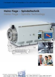 Heinz Fiege – Spindeltechnik Heinz Fiege – Spindle Technology
