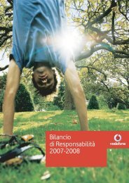 Bilancio di Responsabilità 2007-2008 - Vodafone