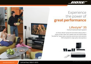 Experience the power of great performance - Bose - India