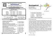 23.06.2013 - Katholische Kirchengemeinde St. Laurentius in ...