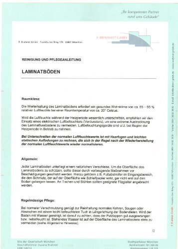 Laminatboden - F. Brahmst GmbH